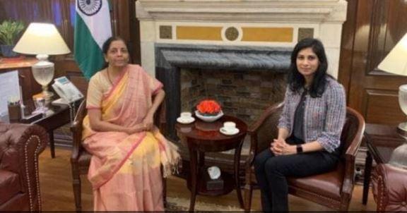 nirmala seetaraman with Geeta gopinath