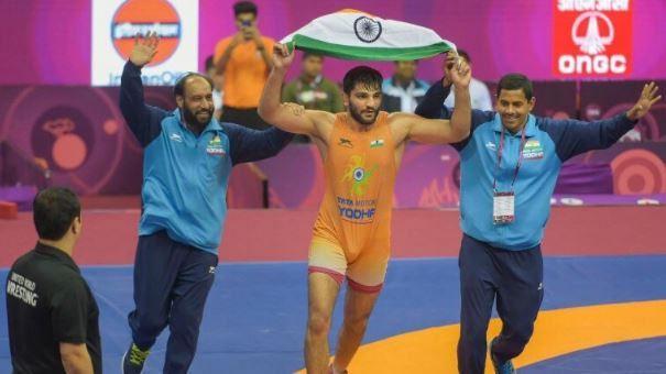 Asian Wrestling Championships Sunil Kumar Wins India's First Greco-Roman Gold In 27 Years