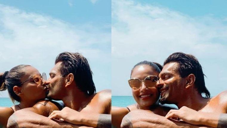 Bipasha Basu and Karan Singh Grover share a kiss in the pool