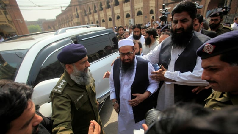 Hafiz saeed booked in terror funding case, US reacts
