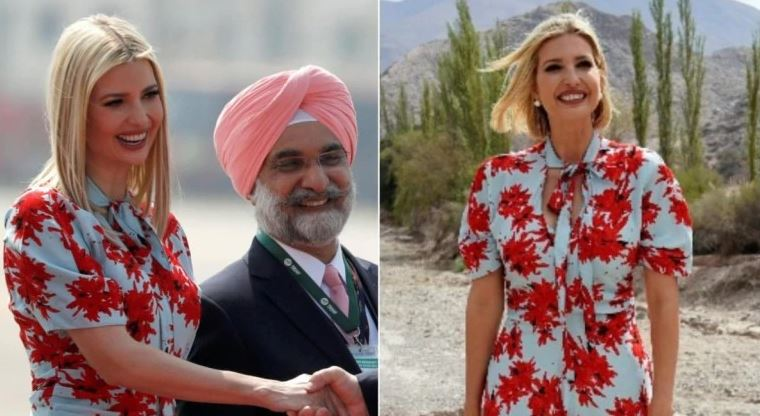 Ivanka Trump repeats floral dress worth Rs 1.7 lakh she wore to Argentina in 2019