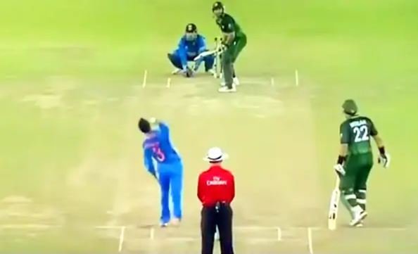 Harbhajan Singh put Afridi out by putting a mysterious ball, then celebrated such a celebration, see full video