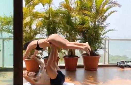Tiger shroff's krishna shroff shared a video in bikini