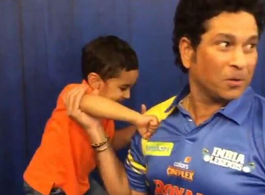 Watch Irfan Pathan's Son's Boxing Match With Sachin Tendulkar