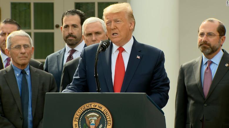 trump-coronavirus-press conference, national emergency in US