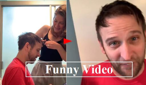 Viral Video Wife tries to give husband a haircut Goes Wrong - Wife was biting he