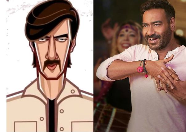 Ajay Devgan's unique style, used the animated video note to thank those who wished the birthday