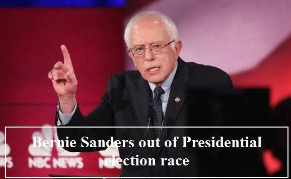 Bernie Sanders drops out of presidential race,Joe Biden To Be Democratic Nominee