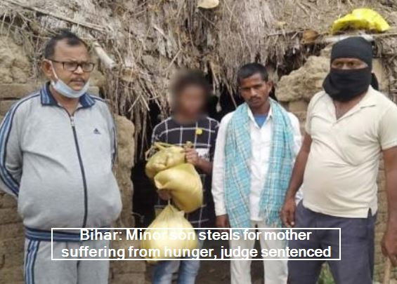 Bihar_ Minor son steals for mother suffering from hunger, judge sentenced to thi