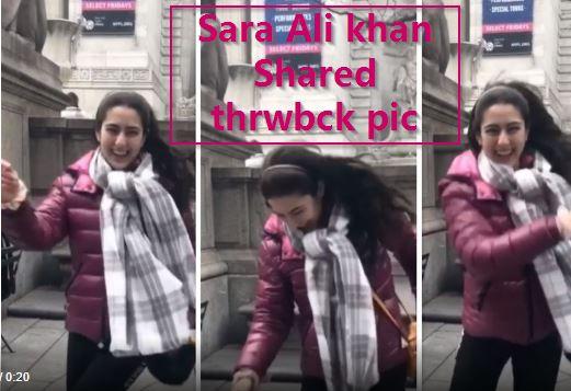 Bollywood News In Hindi _ Sara Ali Khan shares a fun throwback video from New Yo
