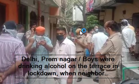 Delhi, Prem nagar - Boys were drinking alcohol on the terrace in lockdown, when neighbor complained, they murdered him, recorded in CCTV