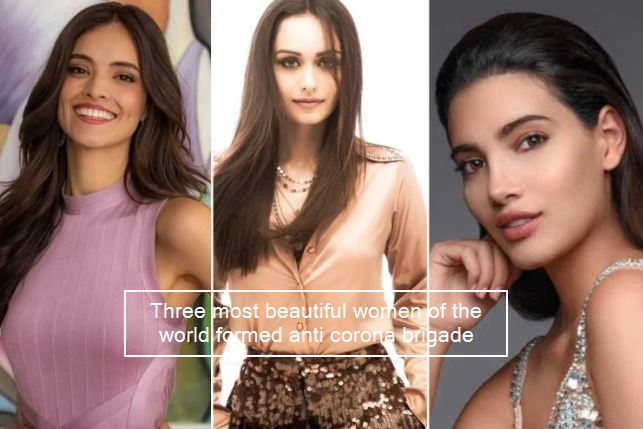 Manushi Chhillar along with two other former Miss World Spread Awarness about Co