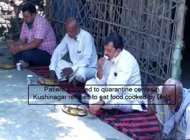 Patient admitted to quarantine center in Kushinagar refuses to eat food cooked b
