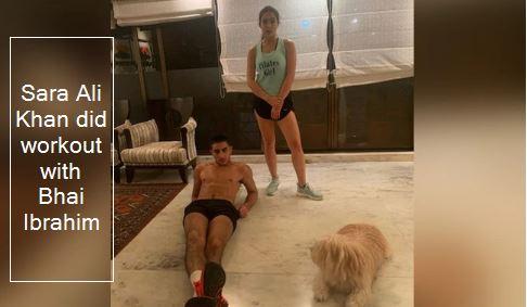Sara Ali Khan Workout With Brother Ibrahim Ali Khan Photo Viral On Social Media
