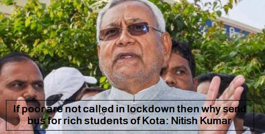 Why did the poor not call for lockdown, then why send the bus for the rich stude