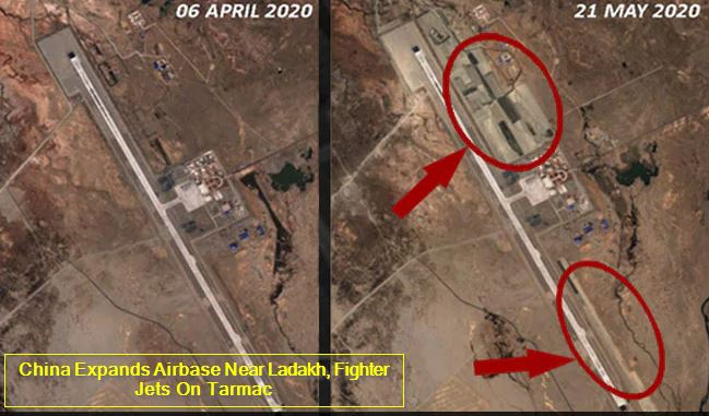 China Expands Airbase Near Ladakh, Fighter Jets On Tarmac