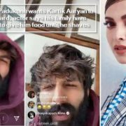 Deepika Padukone wants Kartik Aaryan to trim beard, actor says his family have refused to give him food until he shaves