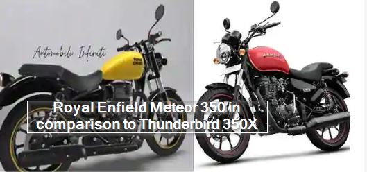 How different is Royal Enfield Meteor 350 in comparison to Thunderbird 350X