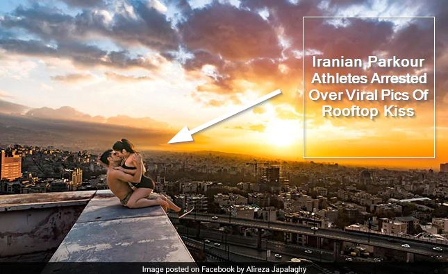 Iranian Parkour Athletes Arrested Over Viral Pics Of Rooftop Kiss