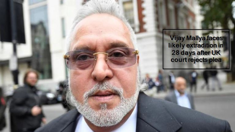 Vijay Mallya faces likely extradition in 28 days after UK court rejects plea