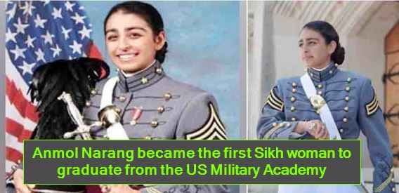Anmol Narang became the first Sikh woman to graduate from the US Military Academy
