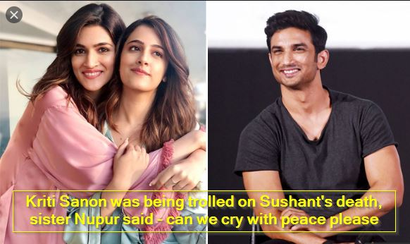 Kriti Sanon was being trolled on Sushant's death, sister Nupur said - can we cry with peace please