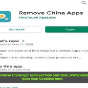 'Remove China app' removed from play store, downloaded more than 50 million times