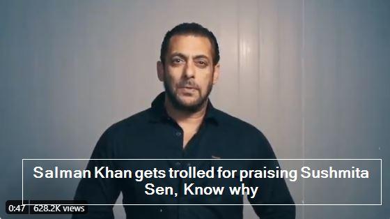Salman Khan gets trolled for praising Sushmita Sen, Know why