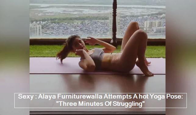 Sexy - Alaya Furniturewalla Attempts A hot Yoga Pose