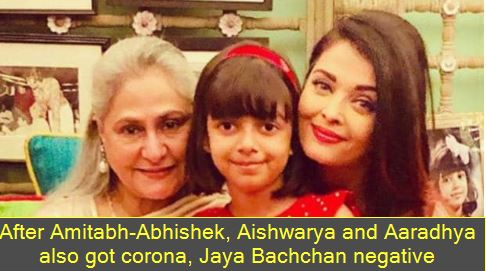 After Amitabh-Abhishek, Aishwarya and Aaradhya also got corona, Jaya Bachchan negative