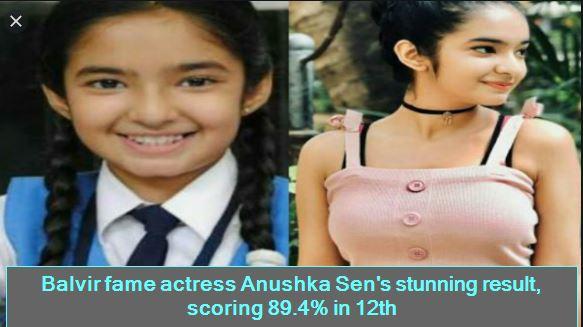 Balvir fame actress Anushka Sen's stunning result, scoring 89.4% in 12th
