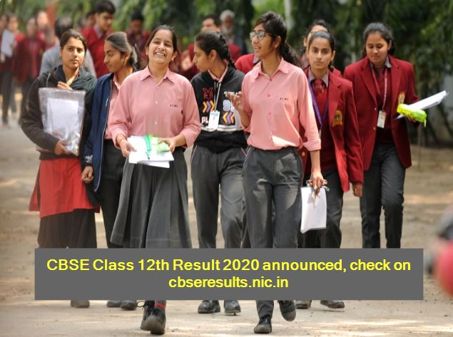 CBSE Board Class 12th Result 2020 Declared Check Online _ CBSE Class 12th result