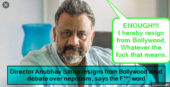 Director Anubhav Sinha resigns from Bollywood amid debate over nepotism