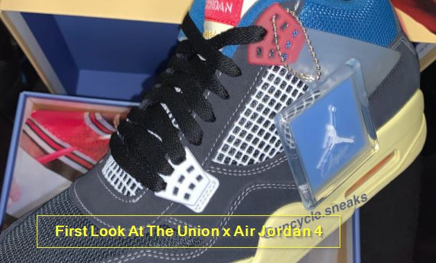 First Look At The Union x Air Jordan 4