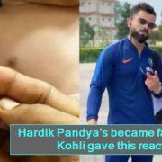Hardik Pandya's became father - Virat Kohli gave this reaction
