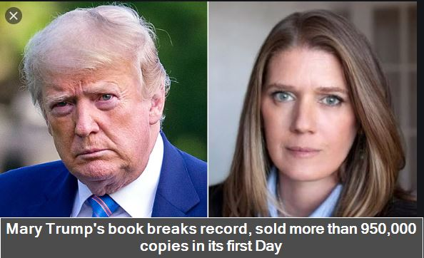 Mary Trump's book breaks record, sold more than 950,000 copies in its first Day