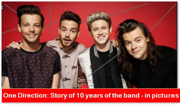 One Direction - Story of 10 years of the band - in pictures