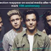 One Direction reappear on social media after 4 years to mark 10th anniversary