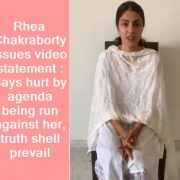 Rhea Chakraborty breaks down in new video_ Horrible things said about me, but tr