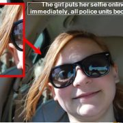 The girl puts her selfie online - and immediately, all police units become alert