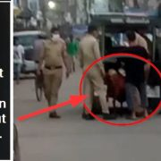 UP Police caught the goat for wandering without a mask. kanpur