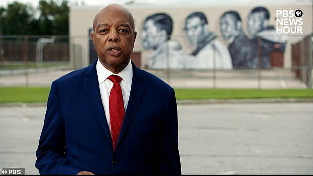 Clarence Henderson, a Republican active in the civil rights movement, spoke on behalf of President Donald Trump during Wednesday night