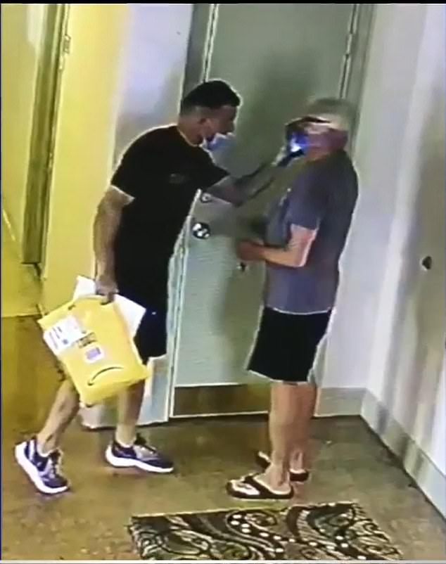 Ray Breslin, 73, claims that the driver delivering packages for Amazon hit him in the face after an argument about the driver not wearing a mask in the lobby of a Miami Beach condo