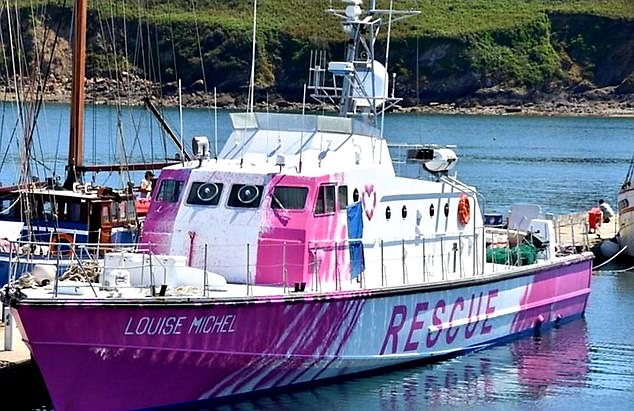 Banksy has financed the boat, the Louise Michel, which rescued 89 migrants in distress trying to reach Europe from north Africa