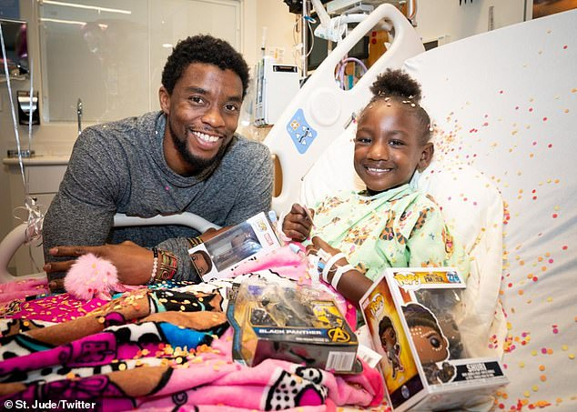 Giving back: Chadwick Boseman, who died Friday at 43, delighted children at St. Jude Children