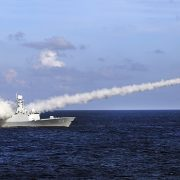 China has launched two missiles on Wednesday morning into the South China Sea, sending a clear warning to the US, a report says. In this file photo, Chinese missile frigate Yuncheng launches an anti-ship missile during a military exercise in south China on July 8, 2016