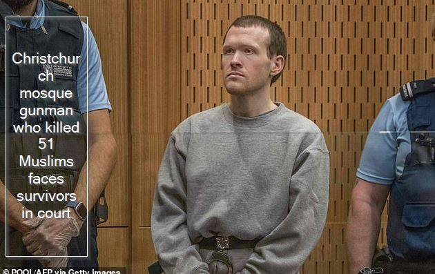 Christchurch mosque gunman who killed 51 Muslims faces survivors in court