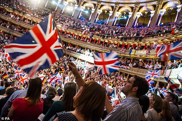 Patriotism matters, and Land Of Hope And Glory and Rule, Britannia are a core part of our national musical history. Pictured, audience enjoying BBC