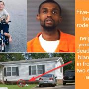 Five-year-old boy who rode his bike into neighbor's yard is shot dead at point blank range in front of his two sister
