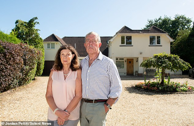 Steve Marcham and Diana Groves (above) turned their £1million seven-bedroom home inRingwood, Hampshire, into a £90-a-night bed and breakfast